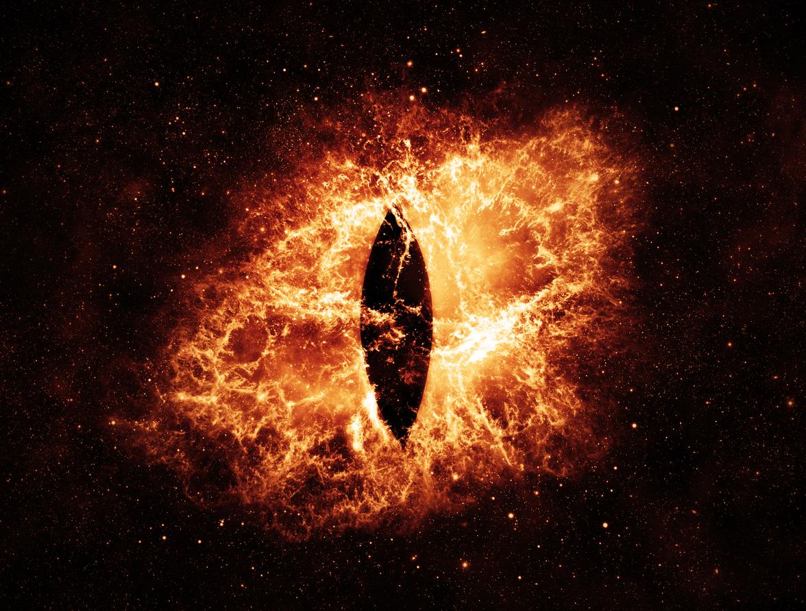 Burning Eyes – Elements of this Image Furnished by NASA